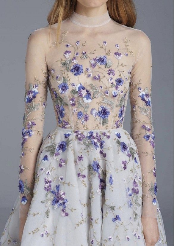 "Paolo Sebastian ""naked"" dress (the funny thing about these to me is there is rarely any actual nudity, only the illusion of it)"