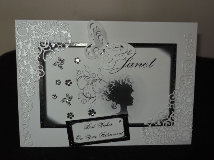 My first card, using tattered lace dies and Tonic Studio.
