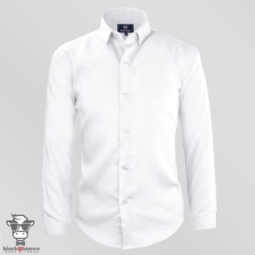 a9ca19b1868 Boys  Signature White Button Down Sateen Dress Shirt