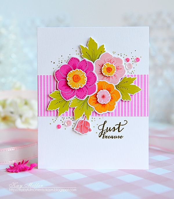 Just Because Card by Kay Miller for Papertrey Ink (January 2016)