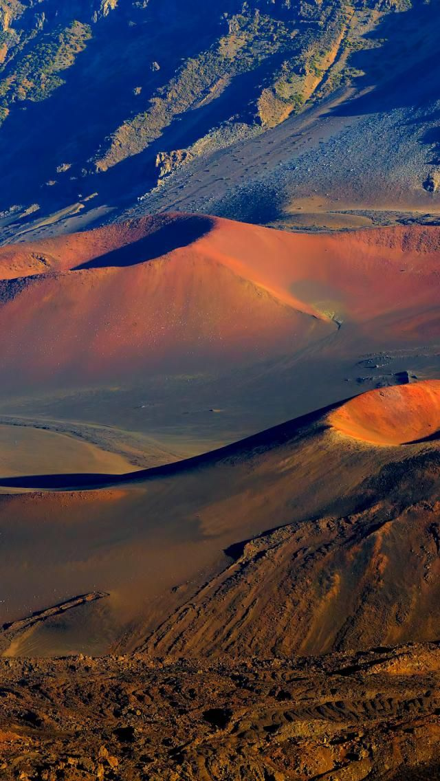 Haleakala National Park, Maui, Hawaii. To see it at its finest one needs to get up before dawn and watch the sun rise over the crater;
