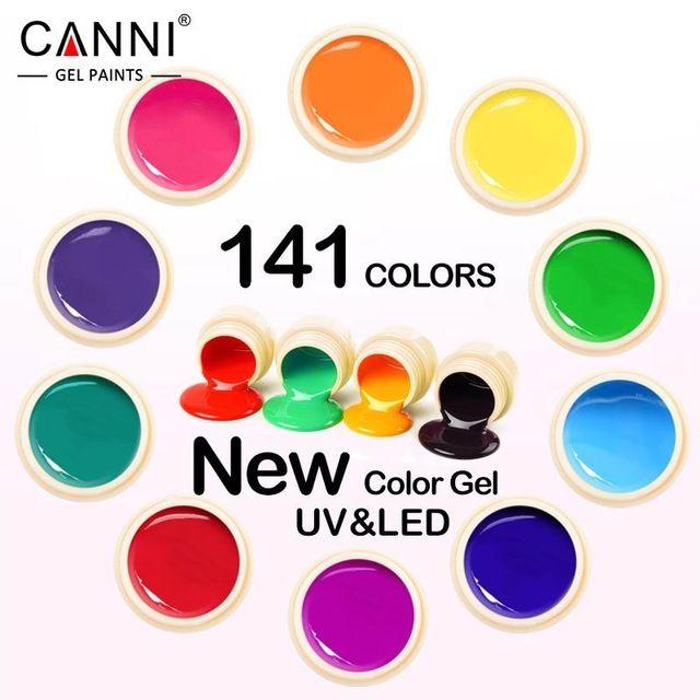 #50618 nowy 2017 canni nail art porady projekt manicure141 kolor uv led Rozkoszować się DIY Farba Kolor Tusz Żelowy UV Gel Nail Polish Lacquer