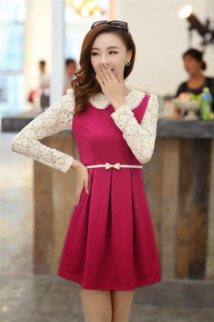 vestidos coreanos 2016 buscar con google vestidos asia d pinterest pentecostal outfits. Black Bedroom Furniture Sets. Home Design Ideas