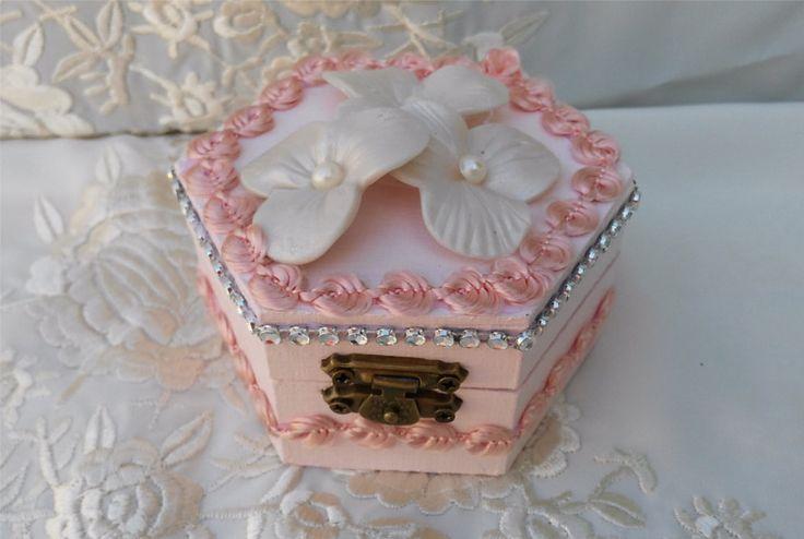 Caja Madera Porta Alianzas Shabby Chic. Caja para por SweetMoonArt