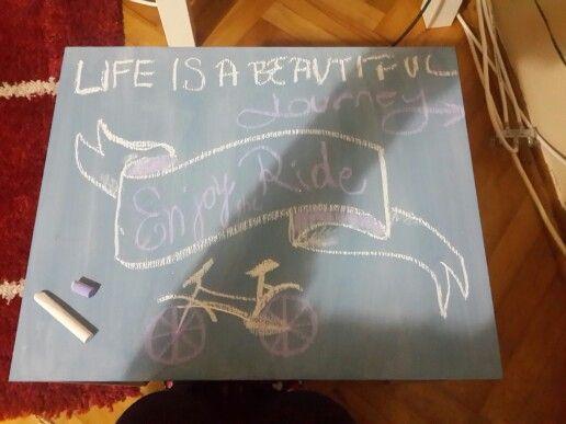enjoy the ride #chalkboard