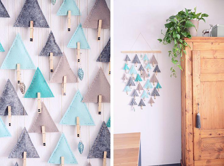 DIY: Advent Calendar Triangle Trees