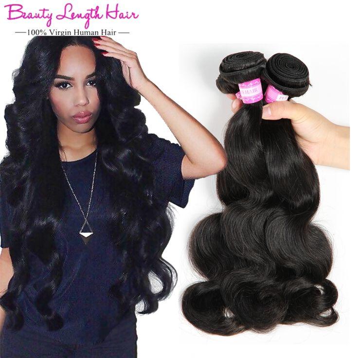 Lichaam 3 bundels braziliaanse virgin haar queen hair producten 8A Braziliaanse Golvend Menselijk Haar Weave Bundel Remy Braziliaanse Body Wave