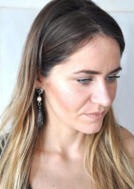 Black Friday Sale Cubic Zirconia Teardrop Earrings Statement