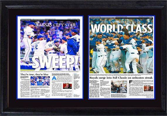 12x18 Double Newspaper Frame  Kansas City Royals by JerseysDerek