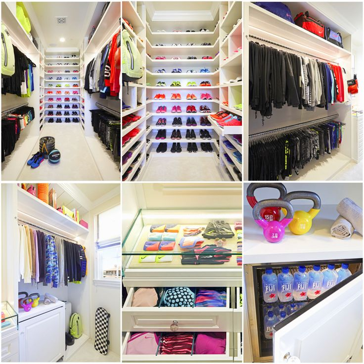 Dream fit/work out closet. This closet is Khloe Kardashian ...