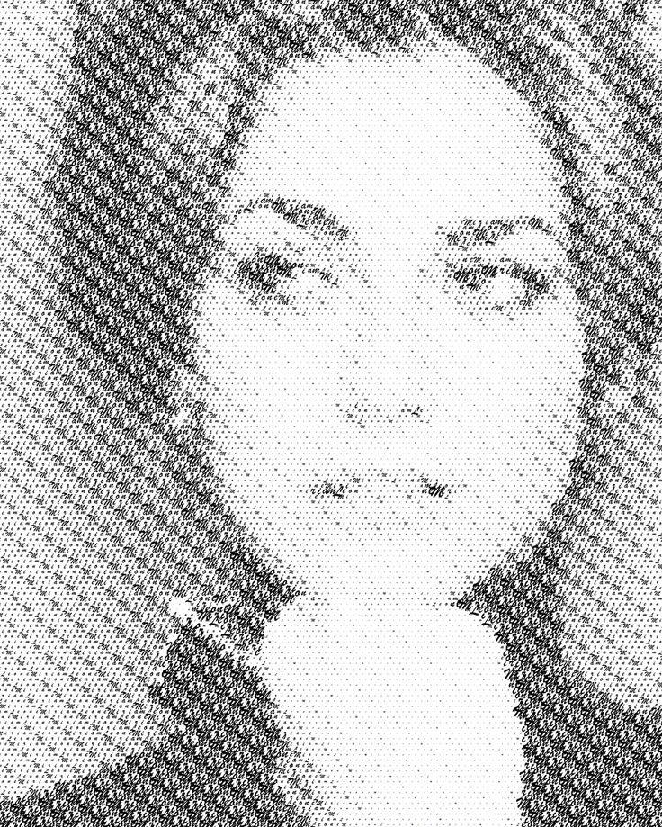 Miriam Leone typography portrait