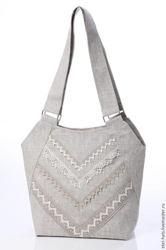 Купить или заказать С037 в интернет-магазине на Ярмарке Мастеров. Давно подмечено – ничто так не придает уверенности в себе, как элегантный внешний вид. Чтобы его подчеркнуть, обязательно нужен стильный, удобный, модный аксессуар. Льняная летняя сумка в комбинации с льняным кружевом.…