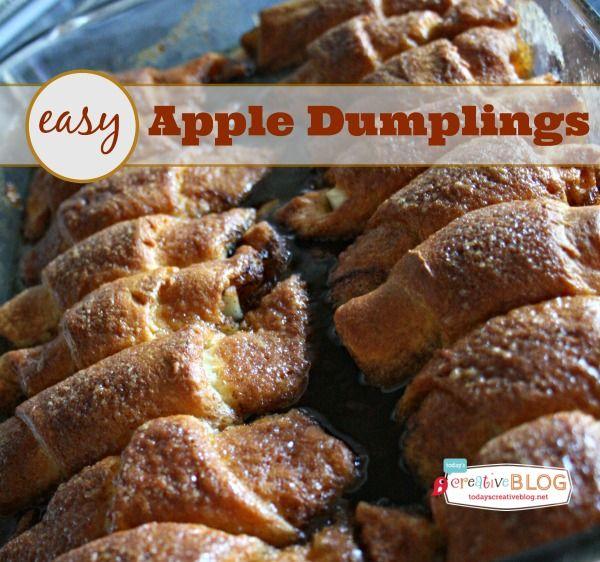 Quick and Easy Apple Dumpling Recipe | Fall Recipes | Apple Recipes | TodaysCreativeBlog.net
