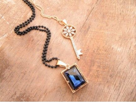 Key charm Double Necklace