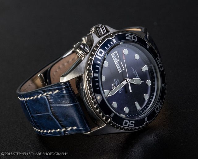 My Orient Blue Ray With Ocean Blue Bob Marino Strap Wow