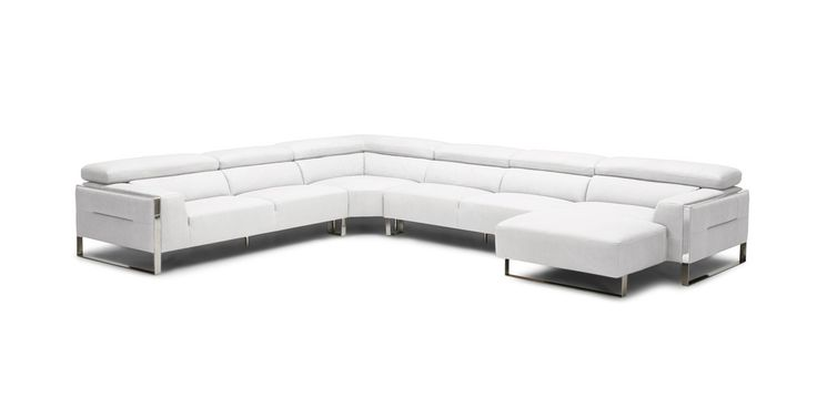 huge italian white leather modern sectional sofa set pottery barn greenwich slipcover best 25+ sectionals ideas on pinterest ...