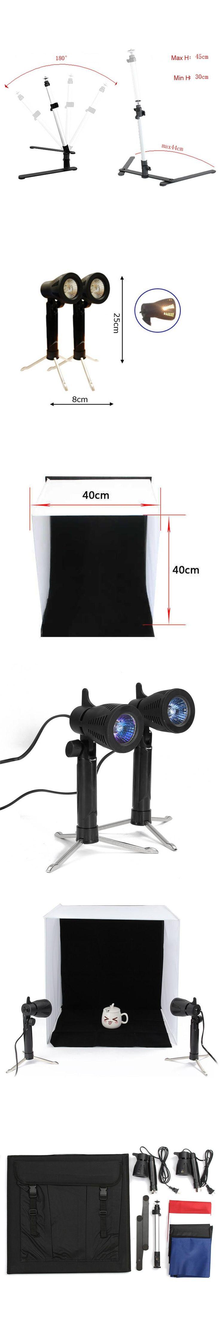40x40CM Room Photo Studio Light Photography Lighting Tent Kit Backdrop Cube Box Photography Lighting Kit AC 110V-220V