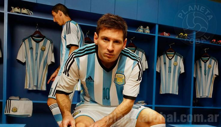 Camiseta titular Adidas Selección Argentina para el Mundial 2014