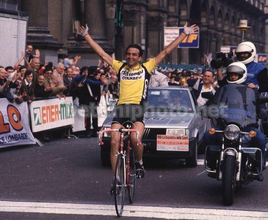 Giro di Lombardia 1986, 18 ottobre. Como > Milano. Il vincitore Gianbattista Baronchelli (1953)