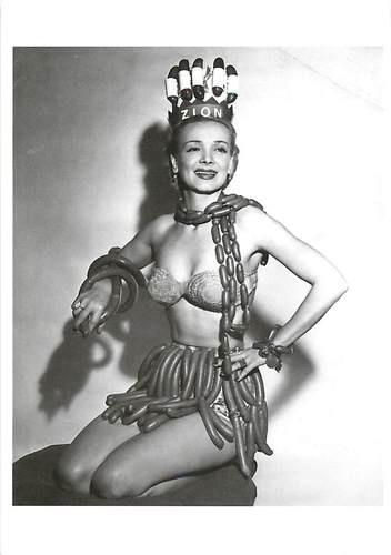 National Hotdog Week Queen 1940s-1950s Sausage • Modern Postcard | eBay