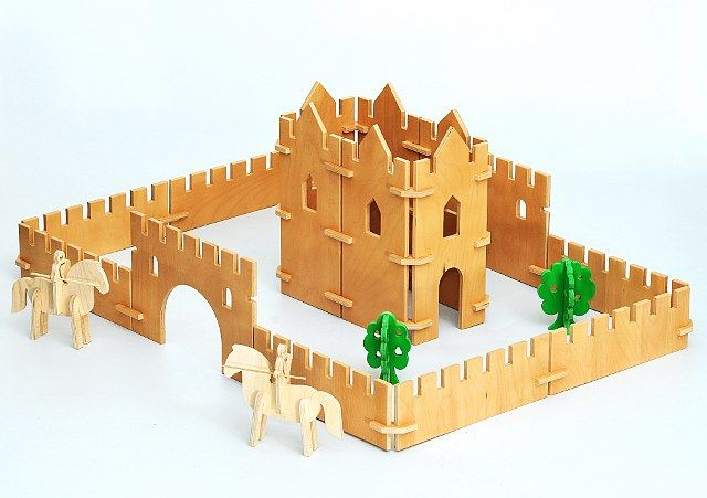 Wooden Folding Medieval Castle
