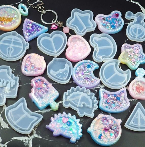 Love Key Keychains Mould Resin Silicone Epoxy Molds For Jewelry,Silicone Keychai