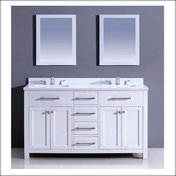 Dawn USA 59 Inch Double Vanity Cabinet Only   Bathroom Furniture   Double  Vanities   Double Vanities