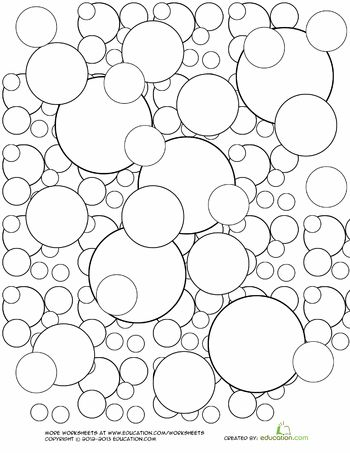 bubble coloring page