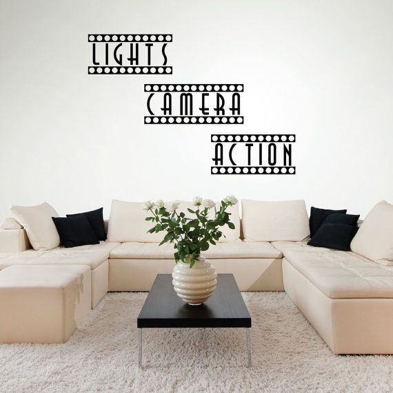 Wall Decals Home Theater Decor Theater Room Movie by luxeloft
