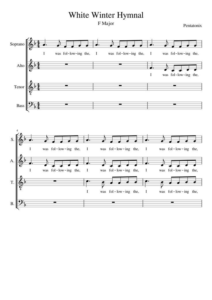 white winter hymnal in f major noten pinterest music. Black Bedroom Furniture Sets. Home Design Ideas