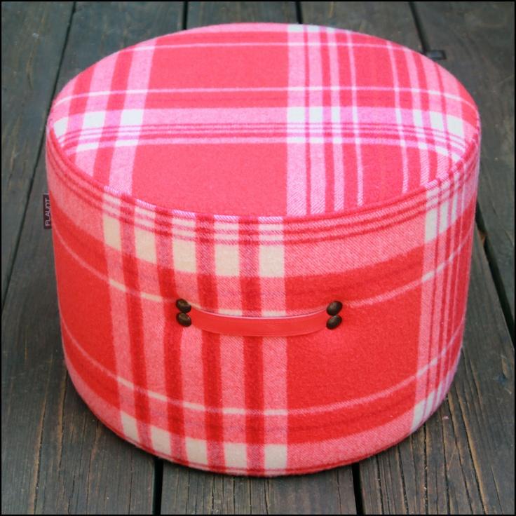 Vintage Wool Blanket Ottoman From flaunt.com.au