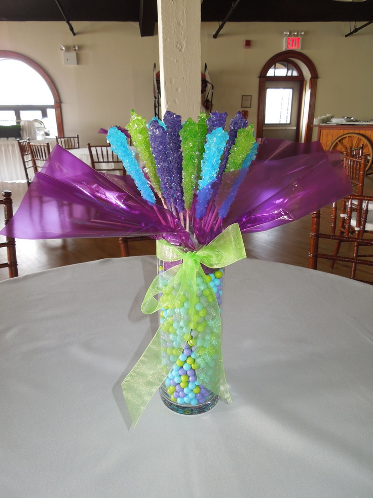 Rock candy centerpiece weddings love marriage