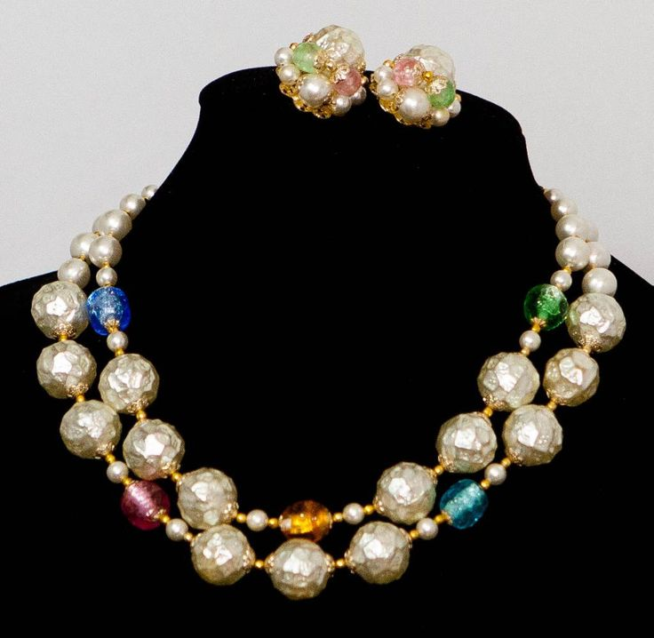JAPAN Necklace & Earrings Large Lucie Baroque Pearl by GenusJewels on Etsy