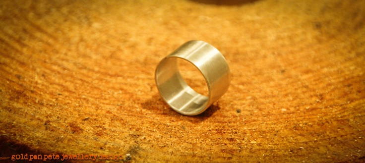 Sterling Silver Wide Body Ring - Brushed or Polished Finish. £29.50, via Etsy.