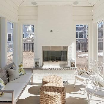 Sunroom With Shiplap Walls With Images Blue Ceilings