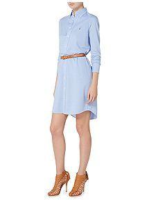 View product Polo Ralph Lauren Oxford long sleeve casual shirt dress