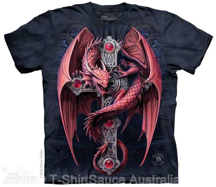 Gothic Guardian Dragon Adults T-Shirt : The Mountain - 2017 Collection : T-Shirtsauce Australia: The Mountain T-Shirts