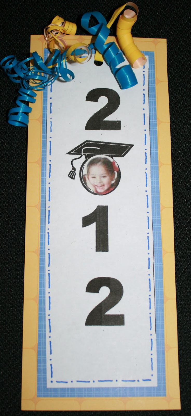 Graduation Bookmark~Take this to a new level~make huge numbers with the class in the 0~i think it would be an awesome background banner!