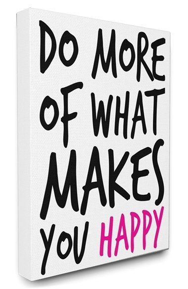 LulusimonSTUDIO 'Do More of What Makes You Happy' Canvas Wall Art available at #Nordstrom