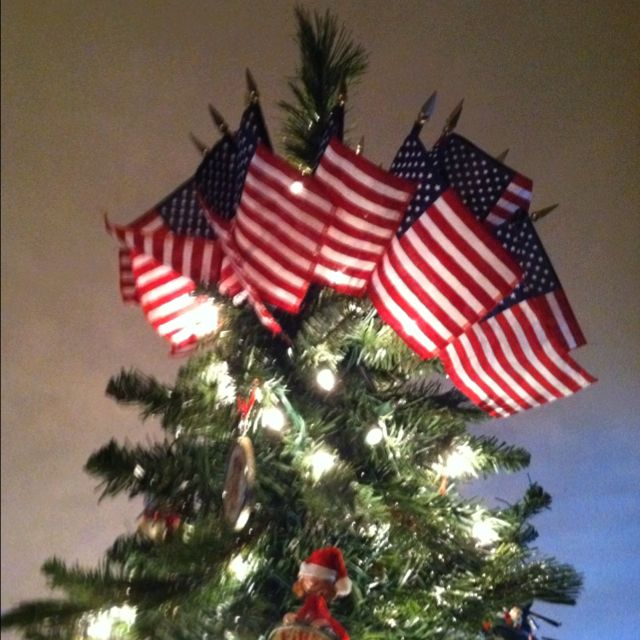 24 Best Christmas Trees Red White And Blue Images On