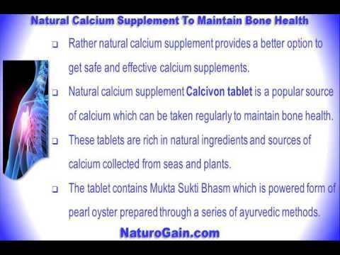 This video describes about which is the best natural calcium supplement to maintain bone health. You can find more detail about Lawax capsules and Vital M-40 capsules at http://www.herbalproductsreview.com
