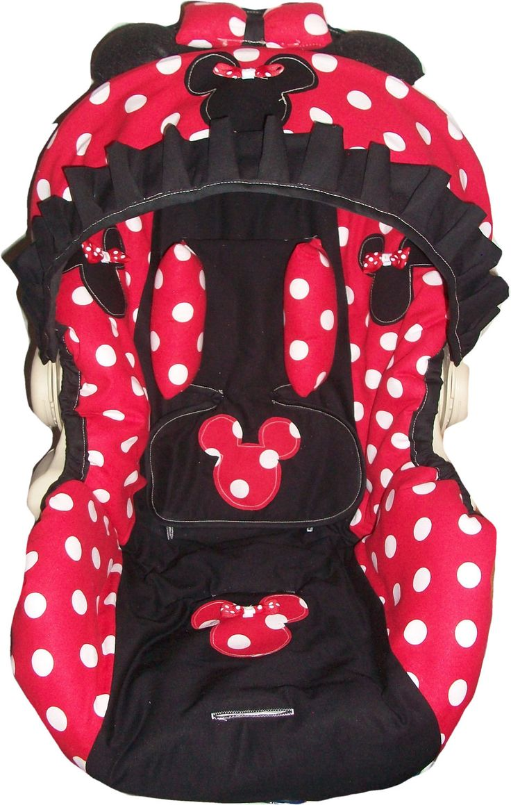 Red And White Polka Dot Minnie Mouse Infant Car Seat Cover