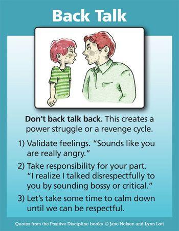 4372 best kids stuff images on pinterest parenting child positive discipline dont back talk back instead of focusing on the disrespect fandeluxe Choice Image