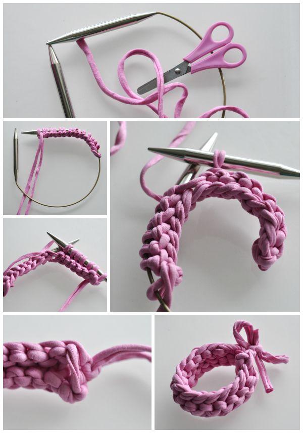 DIY: knit bracelet