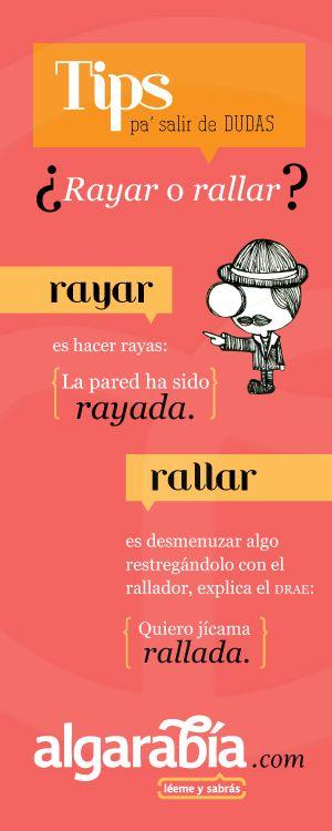 ¿Rayar o rallar? #TipDeLengua