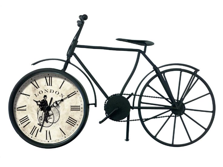 Vintage Bicycle Quartz Mantel Clock