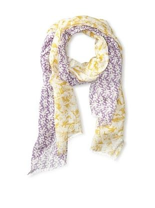 63% OFF Saachi Women's Floral Printed Scarf, Lilac/Yellow