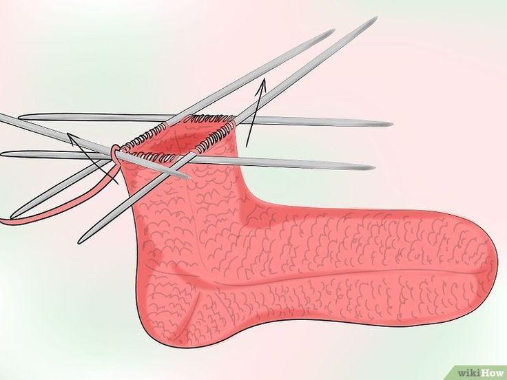 Comment tricoter des chaussettes: 22 étapes