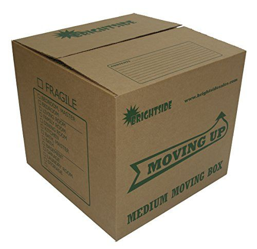 """Moving-Up"" Medium Moving Boxes - Quality Boxes for Sale in 10 Pack Bundle - 18x18x16 - Ideal Size for Moving or Storage - Satisfaction Guaranteed by Brightside Sales, LLC"
