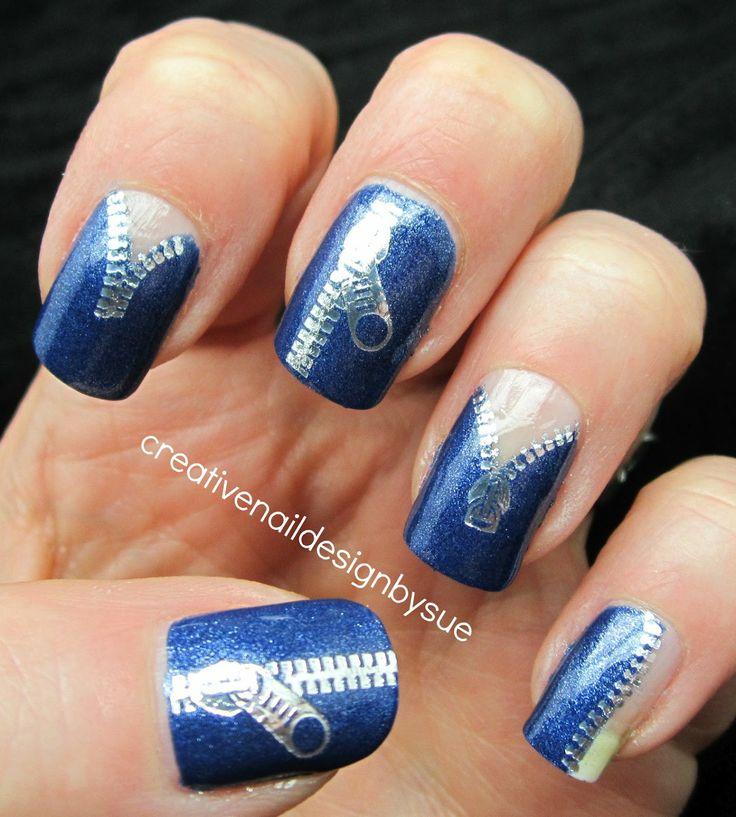 zipper nail design | Haircuts, Nails & makeup | Pinterest